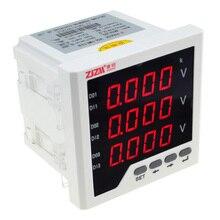 Интеллектуальный цифровой дисплей вольтметр трехфазный измеритель напряжения переменного тока 96x96 мм 12003226