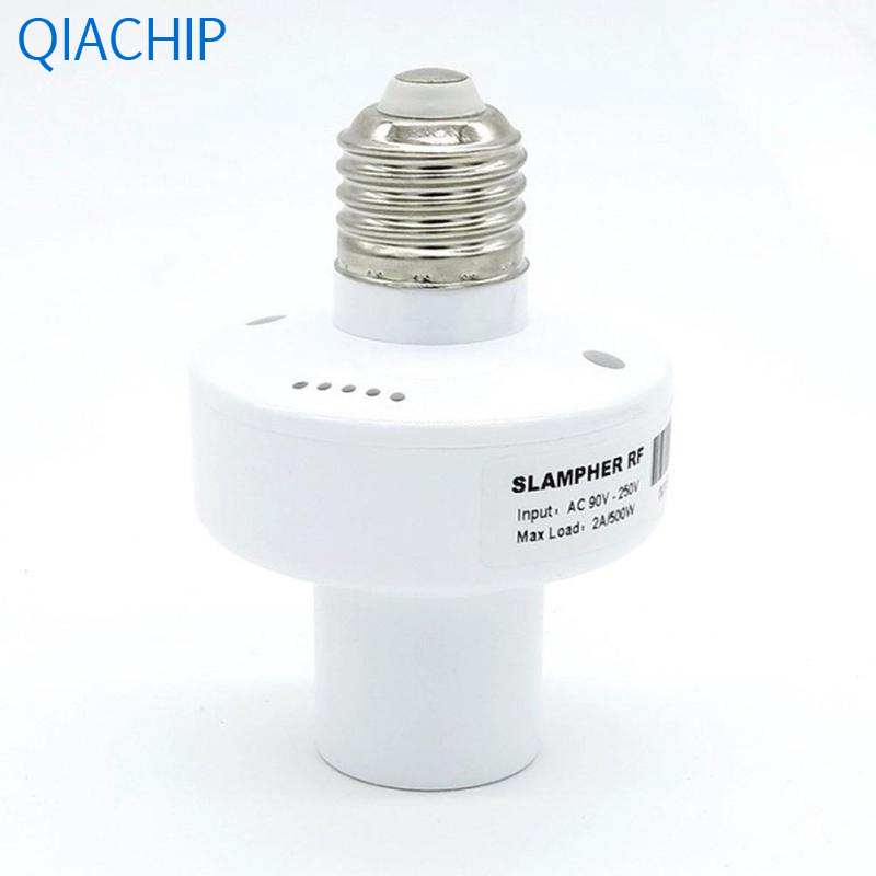 1pc E27 Screw Base Light Switch Via IOS Android Smart Home Interruptor Light Lamp Bulb Holder WiFi APP Wireless Contol AC 220V qiachip e27 rf wifi 433mhz wireless smart light led lamp bulb holder smart home app timer for ios android remote control switch