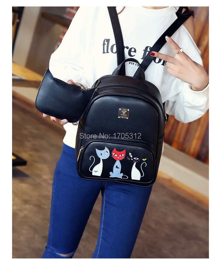 women black leather backpack female fashion office bag ladies work ... 23e723f38a50b