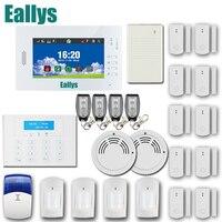 APP Intelligente di sicurezza domestica sistema di allarme con 7 pollice touch screen, GSM PSTN 868 MHZ sistema di allarme con smart sensori, batteria al litio