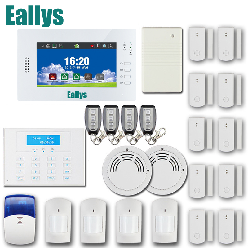 APP Smart home security alarm system with 7 inch touch screen,GSM PSTN 868MHZ alarm system with smart sensors,lithium battery gsm alarm system with multi language english german italian dutch menu for option home security 7 inch touch screen home alarm