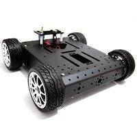 4WD алюминиевый сплав автомобиль мобильный робот Платформа 6 V/12 V металлический мотор шасси