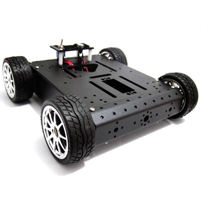 4WD Aluminum Alloy Car Mobile Robot Platform 6V/12V Metal Motor Chassis цена