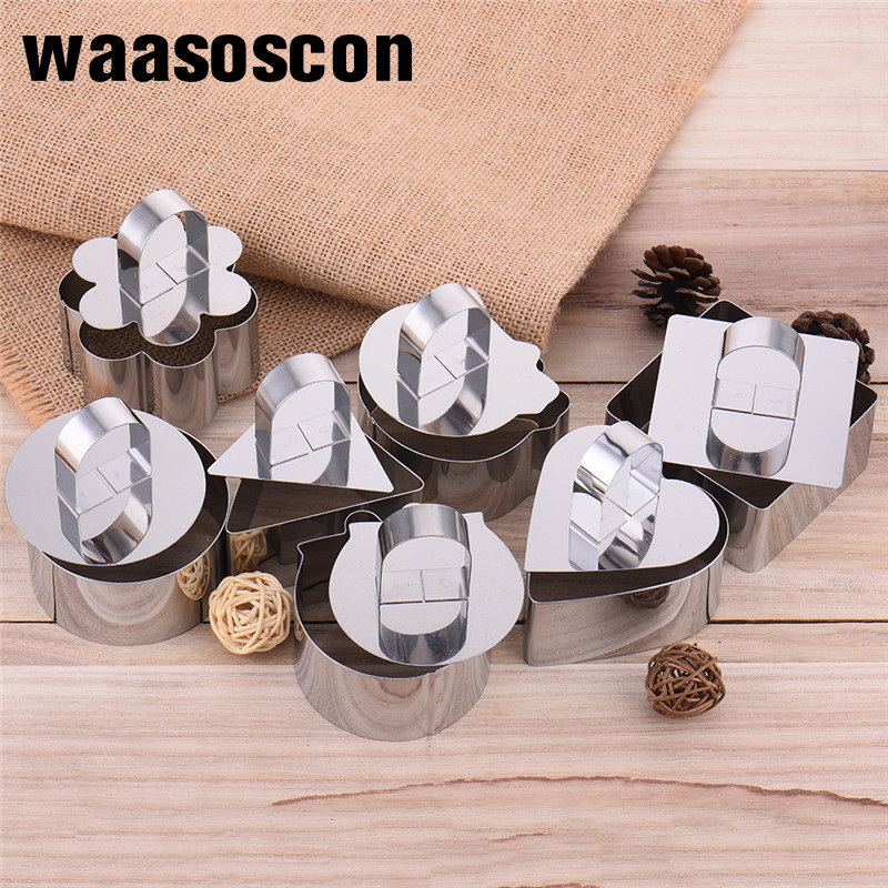 Stainless Steel DIY Cake Mold Cookie Cutter Mousse Ring Cake Decoration Mold Baking Cookie Biscuit Rice Sushi Tools Bakery Shop
