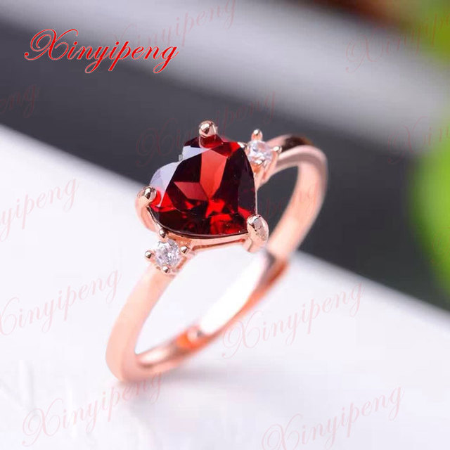 YBJ 925 Sterling Silver With 100 Natural Garnet Ring Women To Quit Wine Red Necessary