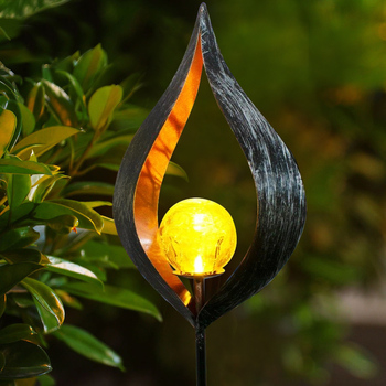 LED Solar Flame Light Metal Decorative Stake Lights Flickering Lamp Outdoor Waterproof For Yard Garden Landscape Path Lighting digoo dg fle01 solar garden decoration led flame lamp landscape automatic waterproof atmosphere light for patio yard path light
