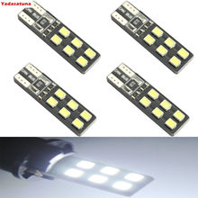Led Auto Lampen 10 ST X CANBUS Geen Fout T10 12SMD 2835, 194 W5W Auto Side Mark Deur Gloeilampen(China)