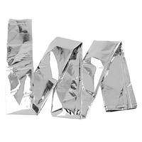 Waterproof Emergency Folding Emergency Survival First Aid Camping Hiking Rescue Thermal Space Blanket Cover Silver Outdoor Tools