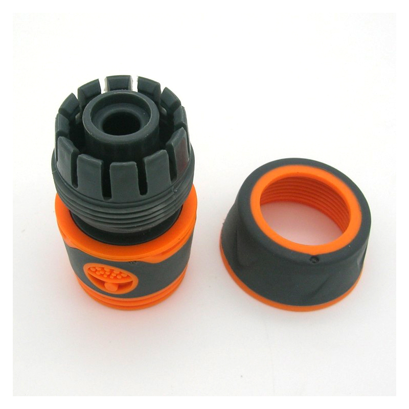 """Garden Sprinkle 1/2"""" or 3/4"""" Water Hose Connector Pipe Adaptor Tap Hose Pipe Fitting Set Quick connector with Rubber Material"""