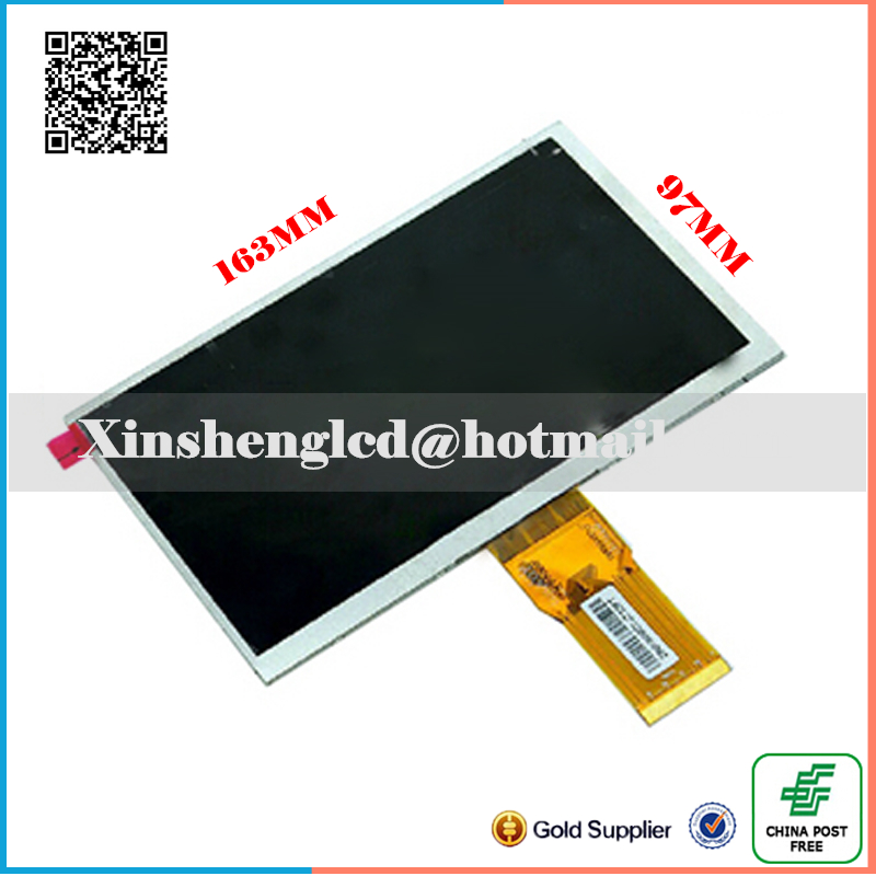 New LCD Display Matrix 7 TEXET TM-7076 X-pad NAVI 7.1 3G Tablet TFT inner LCD Screen Replacement Panel Parts Free Shipping new 7 texet tm 7076 x pad navi 7 1 3g tablet touch panel digitizer touch screen glass sensor replacement free shipping