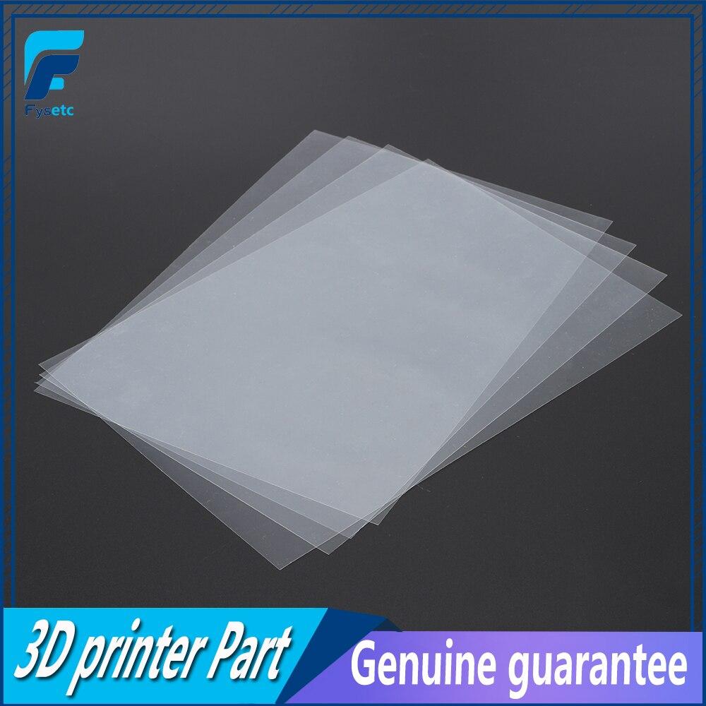 4 feuilles FEP Film 120mm x 180mm x 0.1mm DLP LCD SLA Résine 3D Imprimante Pour Wanhao duplicateur D7, proniks KLD-LCD1260, YHD-101,
