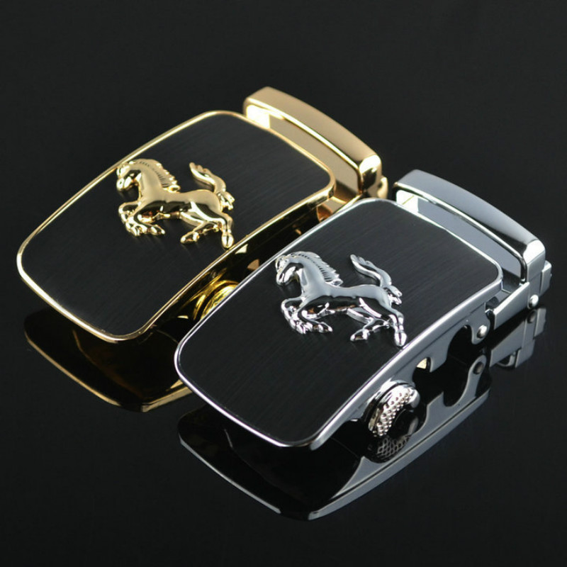 Fashion Simple Design High Quality Solid Alloy Belts Buckle Without Strap Sliding Ratchet Luxury Mens Automatic Buckle LY187879
