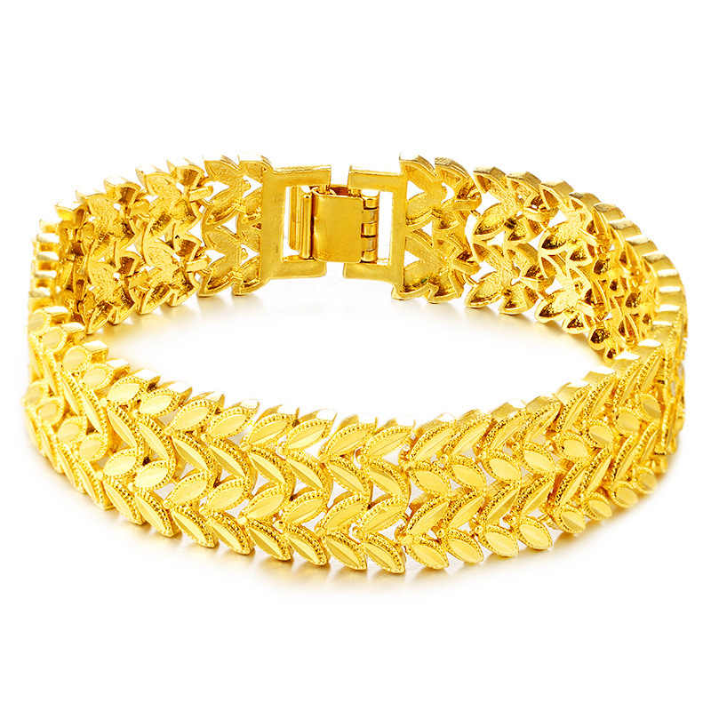 a98bcae4130 Detail Feedback Questions about Liffly Fashion 24k Gold Bracelet for ...