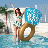170cm Diamond Inflatable lounge chair pool float cute swim ring Swimming Pool Accessories water hammock toy for adult kids
