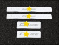Stainless Steel Slim Door Scuff Sill Plates Cover stickers FOR 09 15 for Chevrolet cruze Sedan hatchback