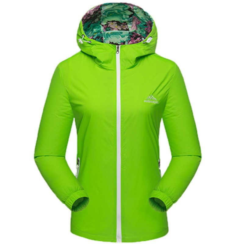 新 2018 メンズ · レディースアウトドア薄型ジャケットのコートキャンプハイキングウインドブレーカー男性のソフトシェルジャケット jaqueta 防風カップル