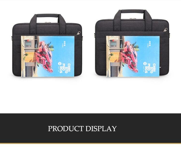 HTB1fm4Xbv1G3KVjSZFkq6yK4XXah Brand Waterproof Men Women 14 15.6 inch Laptop Briefcase Business Handbag for Men Large Capacity Messenger Shoulder Bag