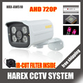 CMOS with IR-Cut filter 4pcs Array leds AHD Camera 1MP 720P Indoor / Outdoor Waterproof CCTV Security Camera, free shipping