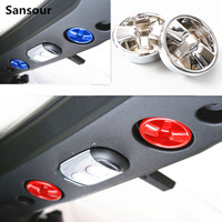 Sansour Roof Top Knob Switch Trim Cover Interior Accessories ABS For Jeep Wrangler jk 2007 Up
