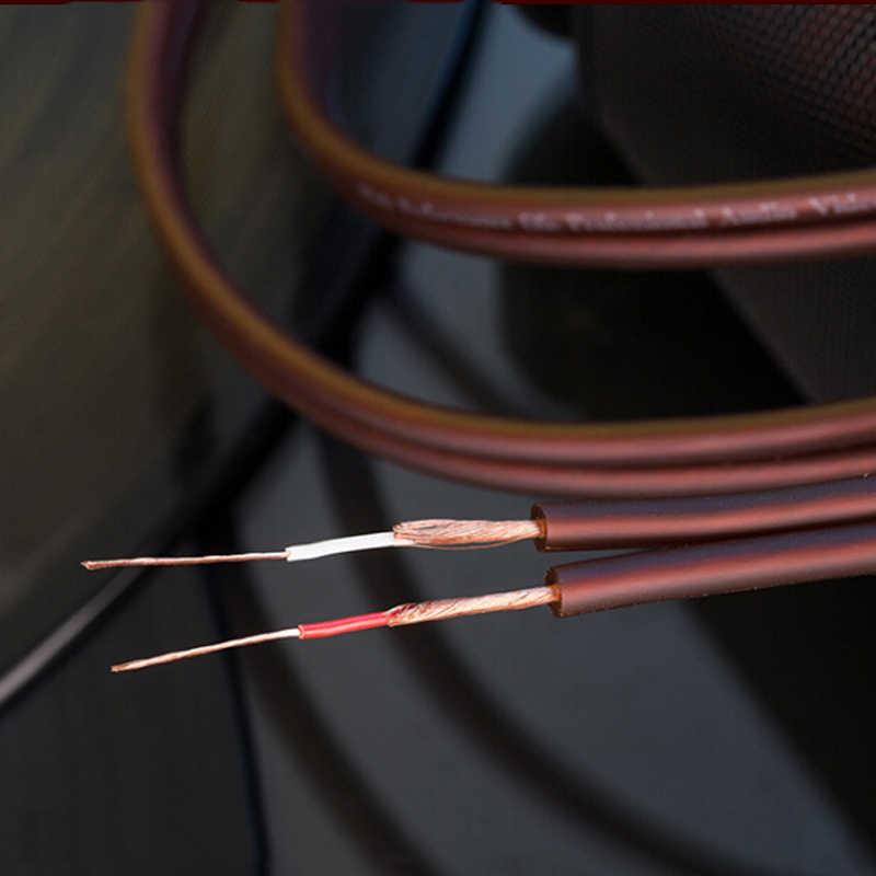 GUSUO 2 מטר נחושת חוט OFC עבור DIY 2 RCA Interconnect אודיו טלוויזיה כבל