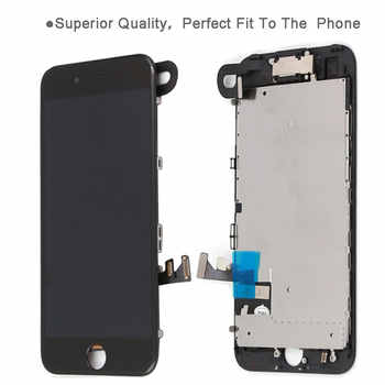 Full parts For iPhone 7 7G 7 plus LCD screen,with front camera earpiece speaker back plate Display Touch Screen Replacement