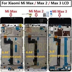 Image 2 - Xiao Mi Mi Max Lcd Touch Screen Digitizer Vergadering Voor Xiao Mi Mi Max 2 Lcd Max2 Max 3 screen Vervanging Zwart Wit