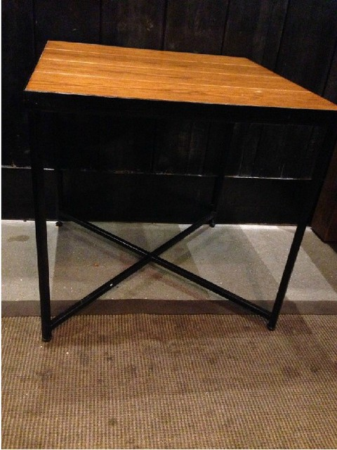 American Retro Starbucks Custom Wood Dining Table Minimalist Modern Coffee  Tables, Wrought Iron Side Table