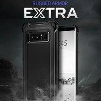 Original Rugged Armor Extra Case For Galaxy Note 8 Heave Duty Flexible Carbon Fiber Design Case