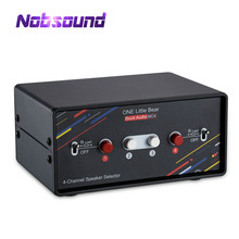 Nobsound 4 Channel Speaker Selector Switch Box Hub Stereo Distributor Splitter