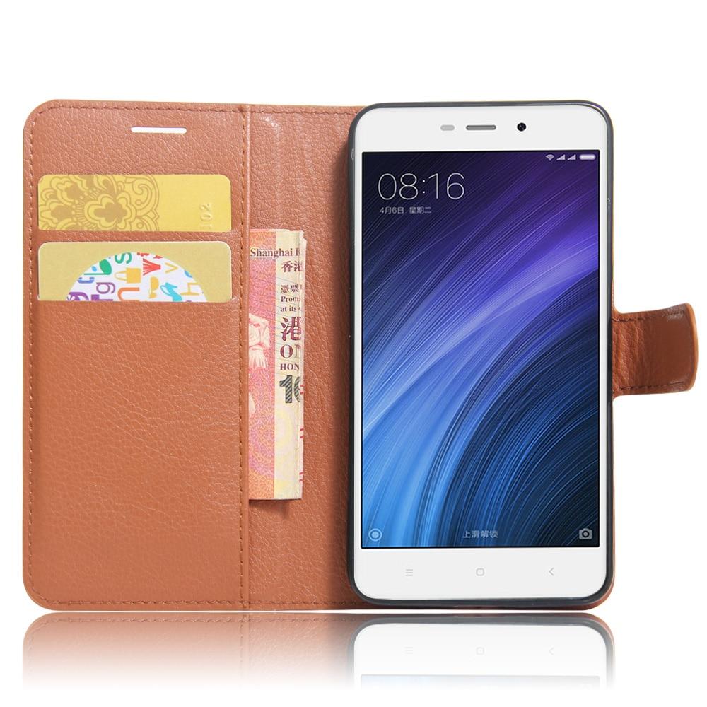 Xiaomi redmi 4A Funda de 5.0 pulgadas Funda de cuero de lujo de la PU - Accesorios y repuestos para celulares - foto 6