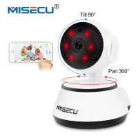 MISECU Pan Tilt Wifi Audio Record Full 360 Degree Rotation SD Card Surveillance 720P Baby Monitor