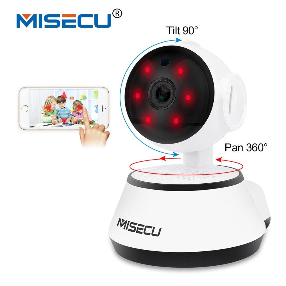 MISECU Pan Tilt Wifi Audio Fiche Complète de 360 degrés rotation SD carte de Surveillance 720 P Bébé Moniteur IP Onvif P2P alerte Email Nuit