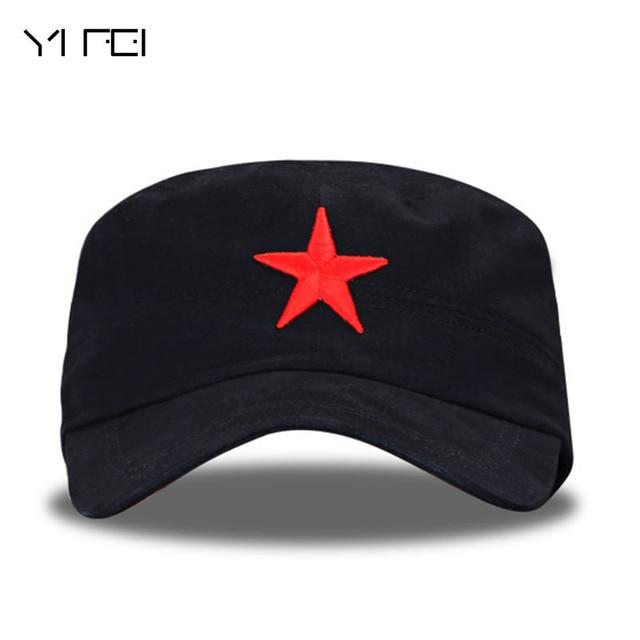 e2fa028c60f Men Pentagram Flat Caps Red Star Motorcycle Cap Actical Baseball Caps  Fishing Hat Snapback Hats Bone