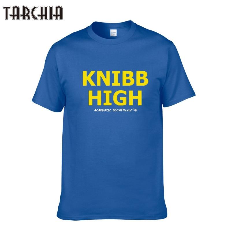 TARCHIA Summer KNIBB HIGH T-shirt Hip Hop Skateboard Man Brand Clothing T shirt Cotton Male Casual Tshirt Tops Tees Homme