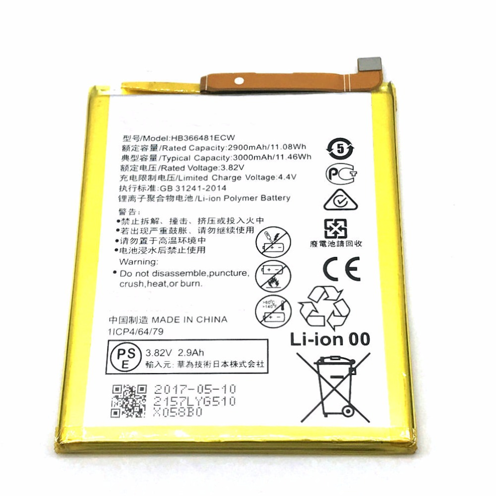 1Pcs HB366481ECW Battery for Huawei P9 Ascend P9 Lite G9 honor 8 5C G9 VNS-DL00 VNS P10 Lite WAS-L03T WAS-LX2J LX1 WAS-LX3 LX2J