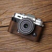 Mr.Stone Handmade Genuine Leather Camera case Video Half Bag Camera Bodysuit For Fuji XT30 X T20 X T30 XT20 XT10 camera