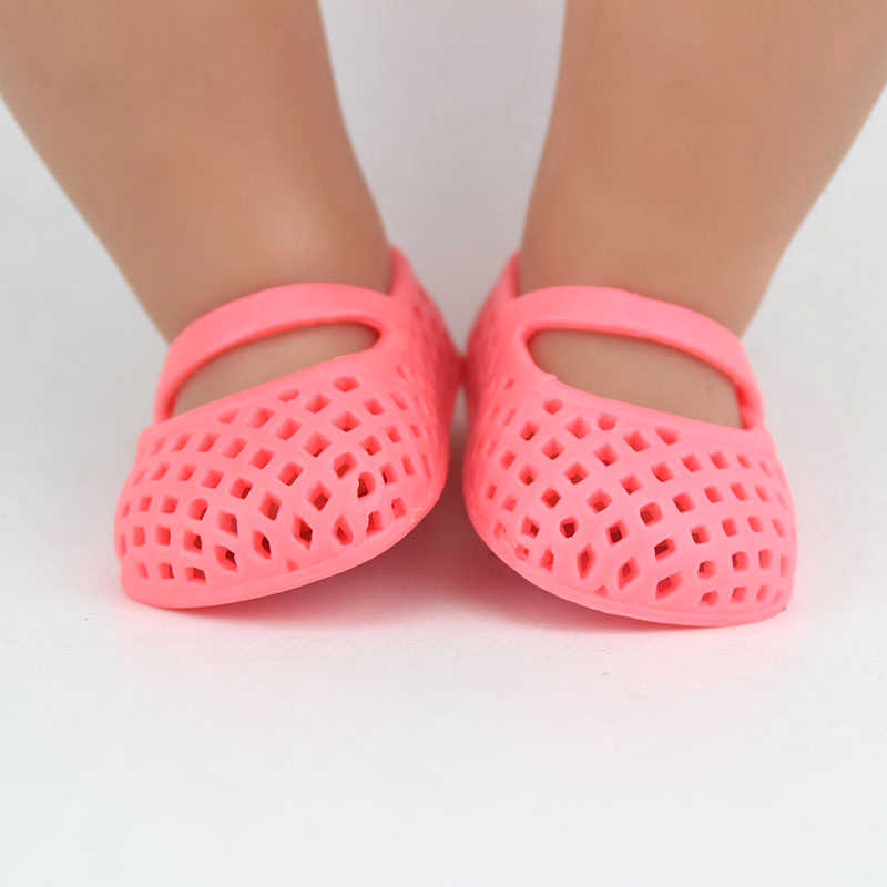 New Sandal Plastic Shoes For 43cm Baby Dolls 17 inch Born Dolls Shoes