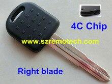 Free Shipping 5pcs/lot New Replacement Transponder Key Fob ID 4C Chip Uncut Right Blade Fit For Suzuki Baleno Grand Vitara Swift