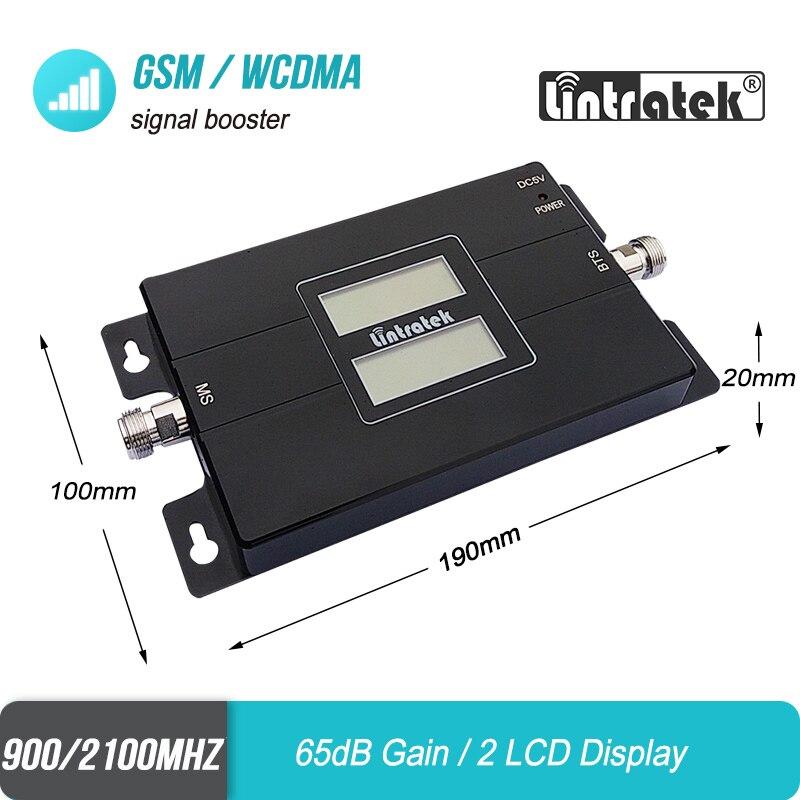 Lintratek 3g 2g 900 2100 LCD amplificateur de Signal Mobile Double bande GSM 900 mhz WCDMA UMTS 2100 mhz répéteur amplificateur cellulaire #40 - 3