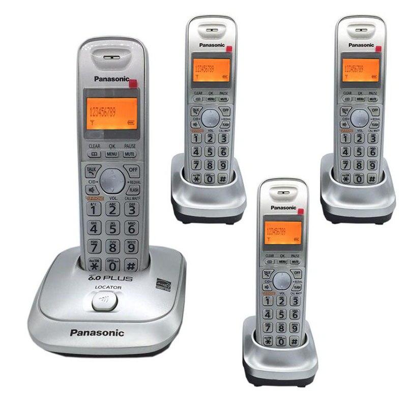 Langue anglaise DECT 6.0 Plus 1.9 GHz numérique sans fil appel téléphonique ID mains libres DEL téléphone domestique sans fil pour les affaires de bureau