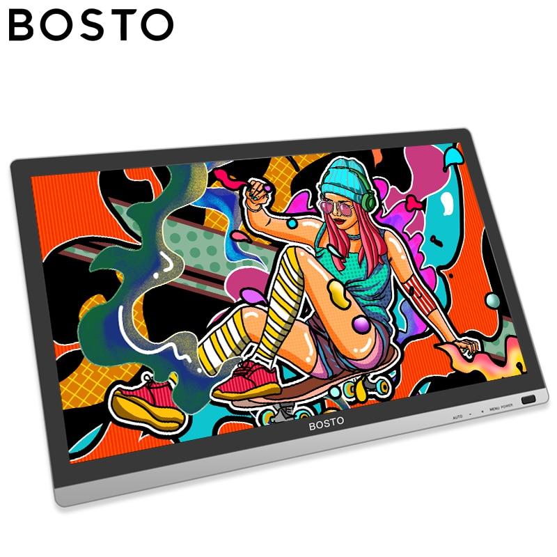 BOSTO Artista 22HD Mini 21.5in Tablette Graphique Moniteur à Tirage D'art Dessin Full HD Tablettes Graphiques avec Dessin Gant et stand