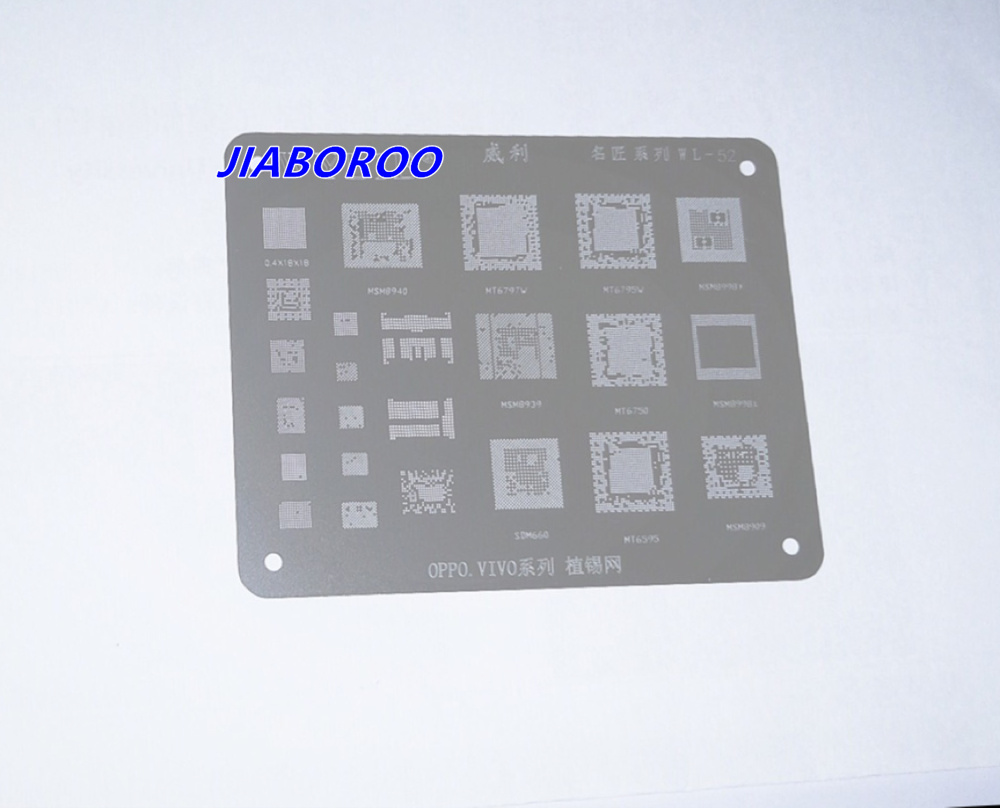 BGA reballing Schablone Template für MSM8940 MT6797V MT6795W MSM8998 MSM8939 MT6750 SDM660 MT6595 MSM8909, 0,4X18X18 hohe qualität