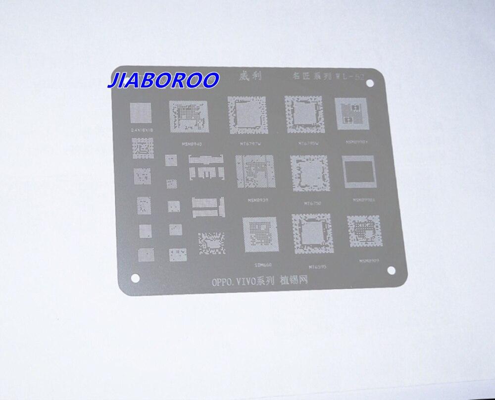 BGA rebillage Pochoir Modèle pour MSM8940 MT6797V MT6795W MSM8998 MSM8939 MT6750 SDM660 MT6595 MSM8909, 0.4X18X18 haute qualité