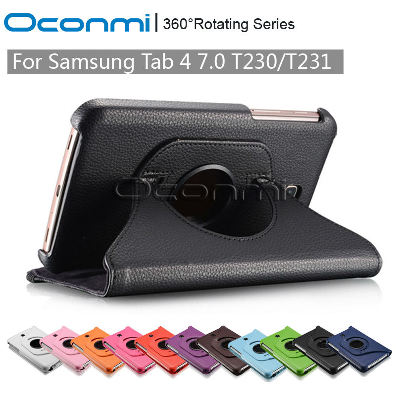 360 Rotating PU Leather case for Samsung Galaxy Tab 4 7.0 with stand function SM-T230 SM-T231 protective Tablet case cover beautiful gitf leather case stand cover for samsung galaxy tab 4 7inch tablet sm t230 sm t231 film pen reel drop shipping jan04