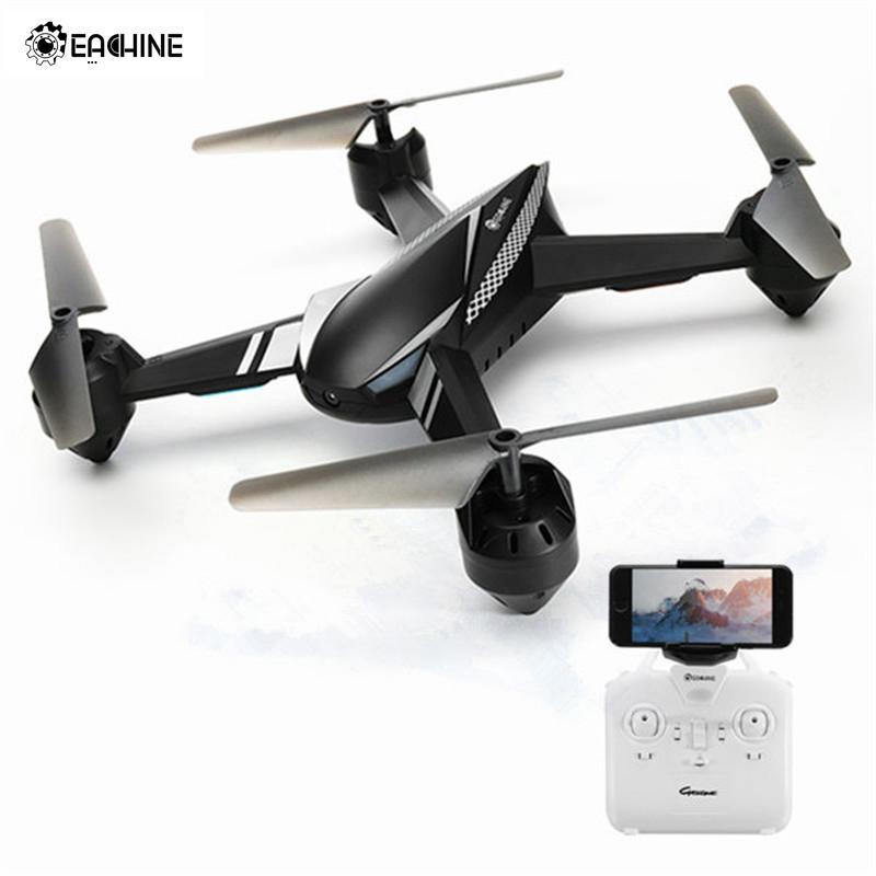 Квадрокоптер Eachine E32HW, Радиоуправляемый Дрон с Wi-Fi FPV и HD камерой 720 P, режим удерживания высоты, черный цвет, две батареи