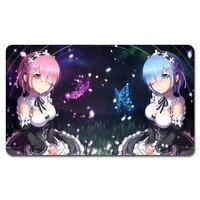 Re Zero Kara Hajimeru Playmat 525 Custom Anime Board Games Sexy Play Mat Card Games