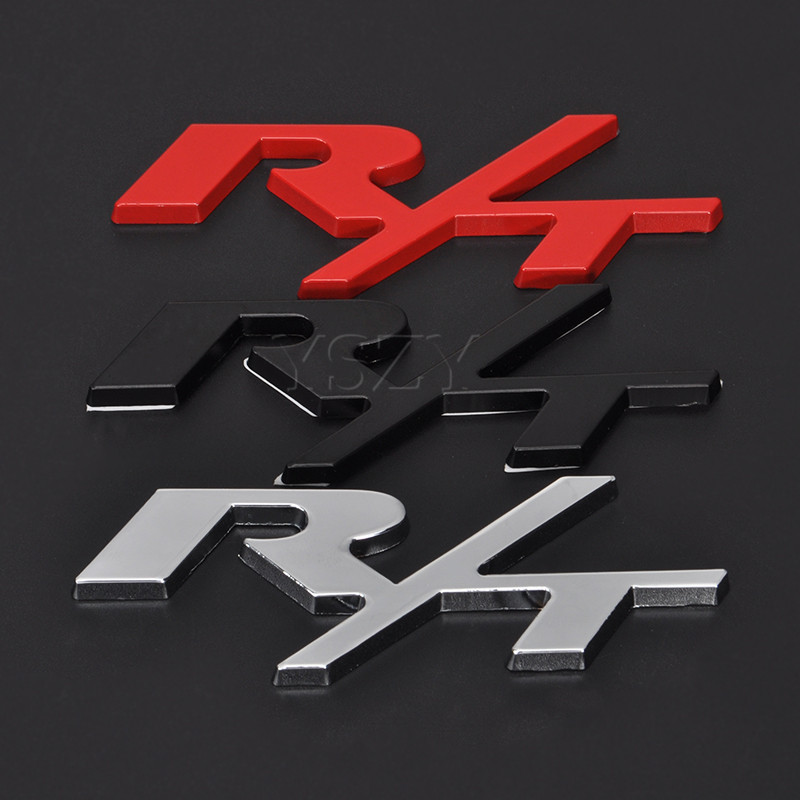 Ram Rt For Sale >> Fshion Car Stickers Emblem Decal For Dodge R/T RT Logo Challenger Charger Caliber Caravan ...