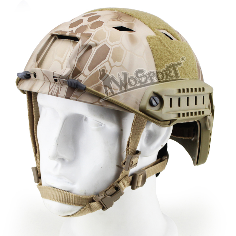 WoSporT Tactical Combat Helmets BJ FAST Adjustable Side Rail Military Airsoft Paintball Army Hunting CS War Game Sports Helmet