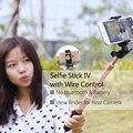 Roca 2016 extensible cable selfie stick de mano mini monopie palo auto cámara para iphone se 6 s samsung s7 s6 edge lg android