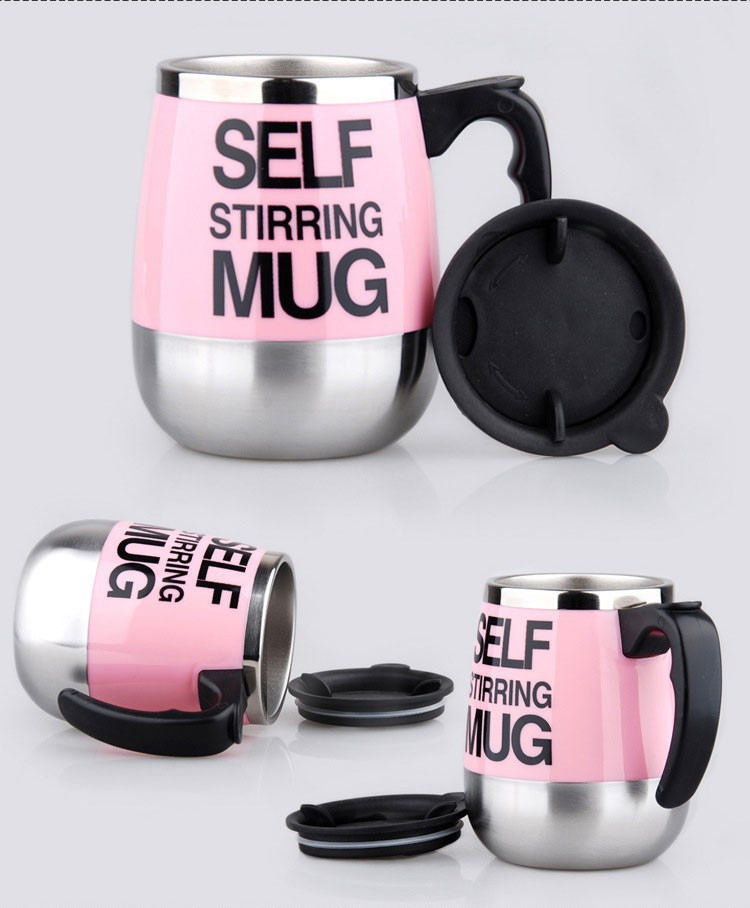 450ml Stainless Steel Self Stirring Mixing Mug Protein Shaker Multifunction Smart Mixer Blender Cup Automatic Electric Coffee Mugs (10)